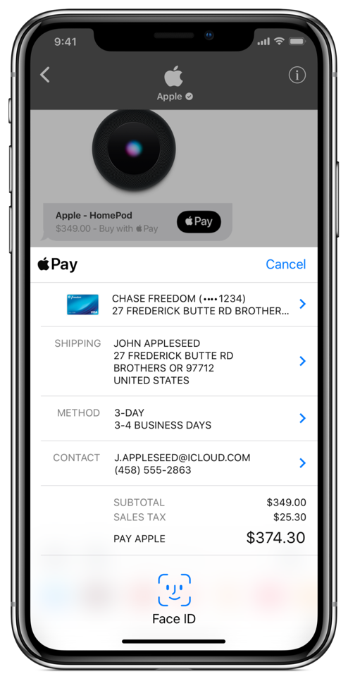 Apple Pay | Apple Store Example